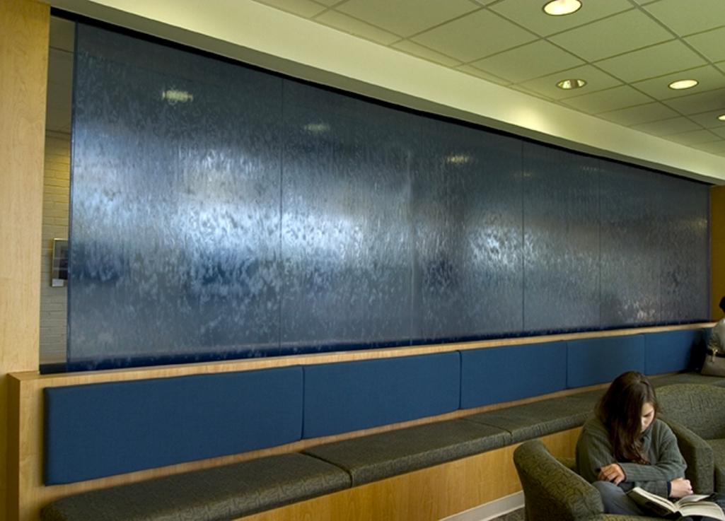 Art glass water wall