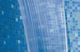 Detail of waterfall spa