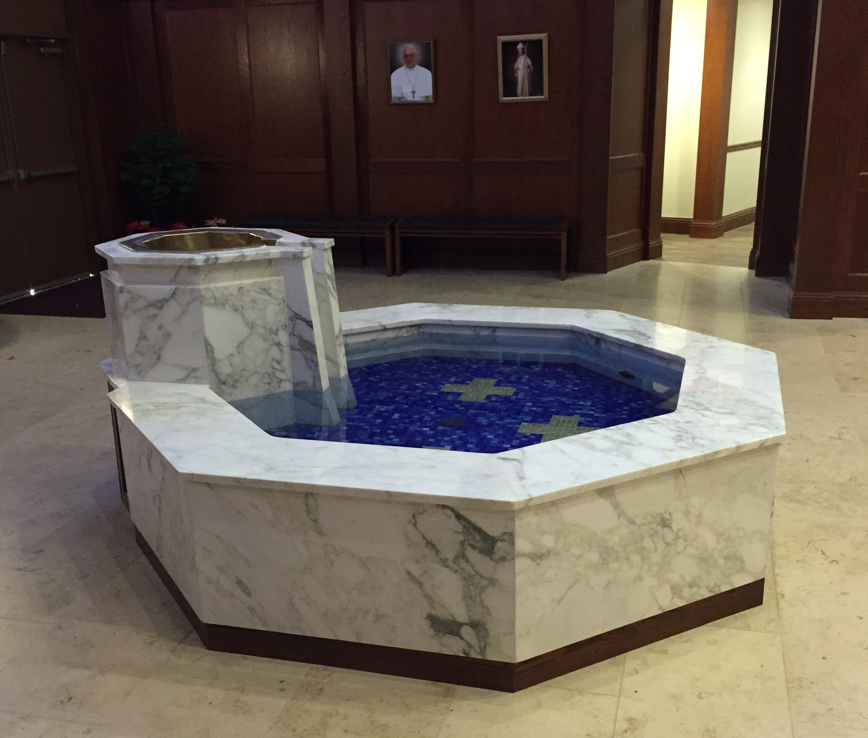 Hexagonal Baptismal Font