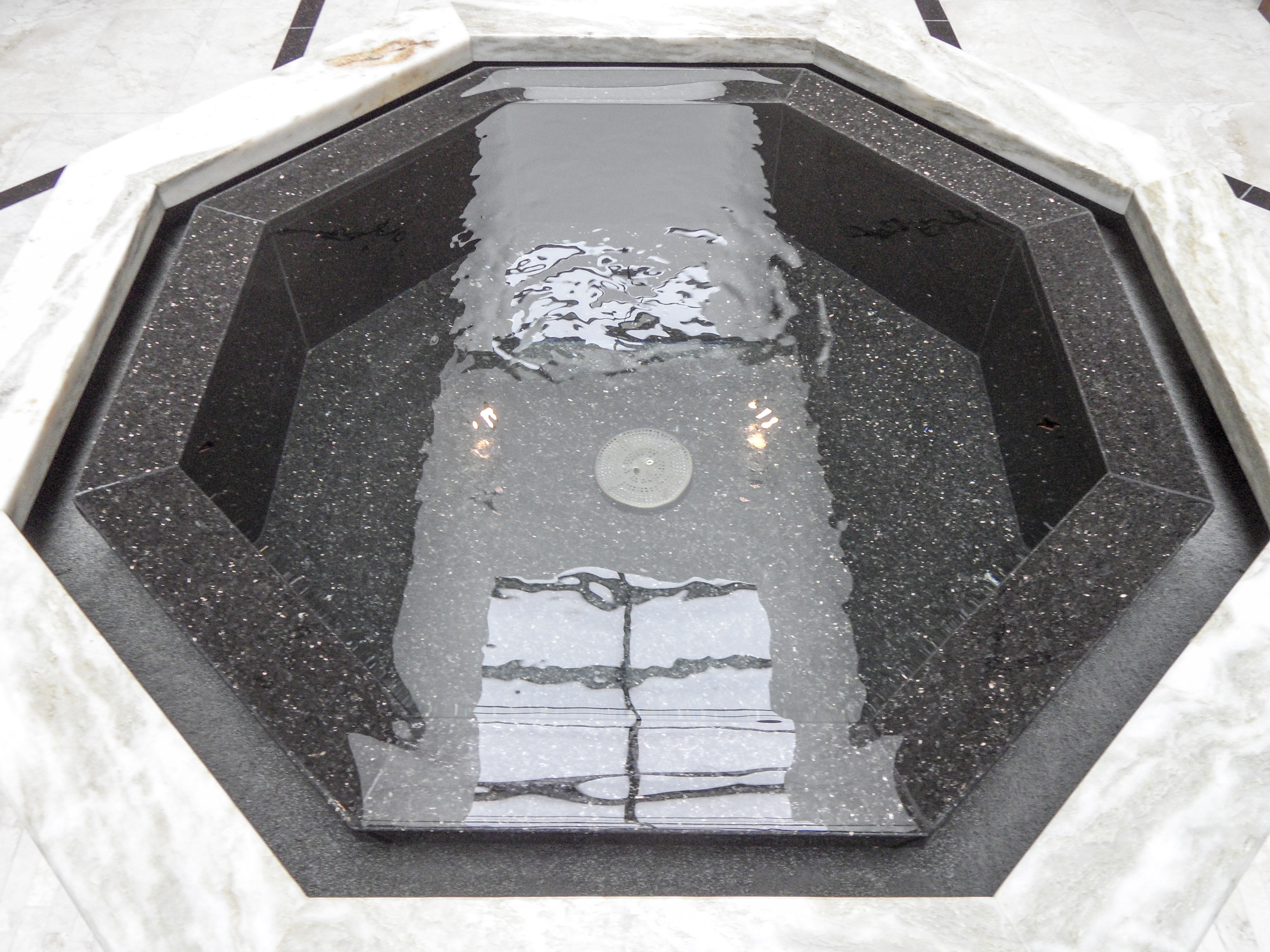 Negative Edge Baptismal Font, Our Lady of Lourdes, Dunedin, FL.