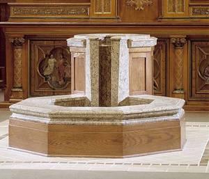 Baptismal Font, St. Bonaventure, Detroit, MI. By Water Structures.